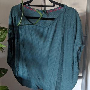 Prana flowy teal shirt